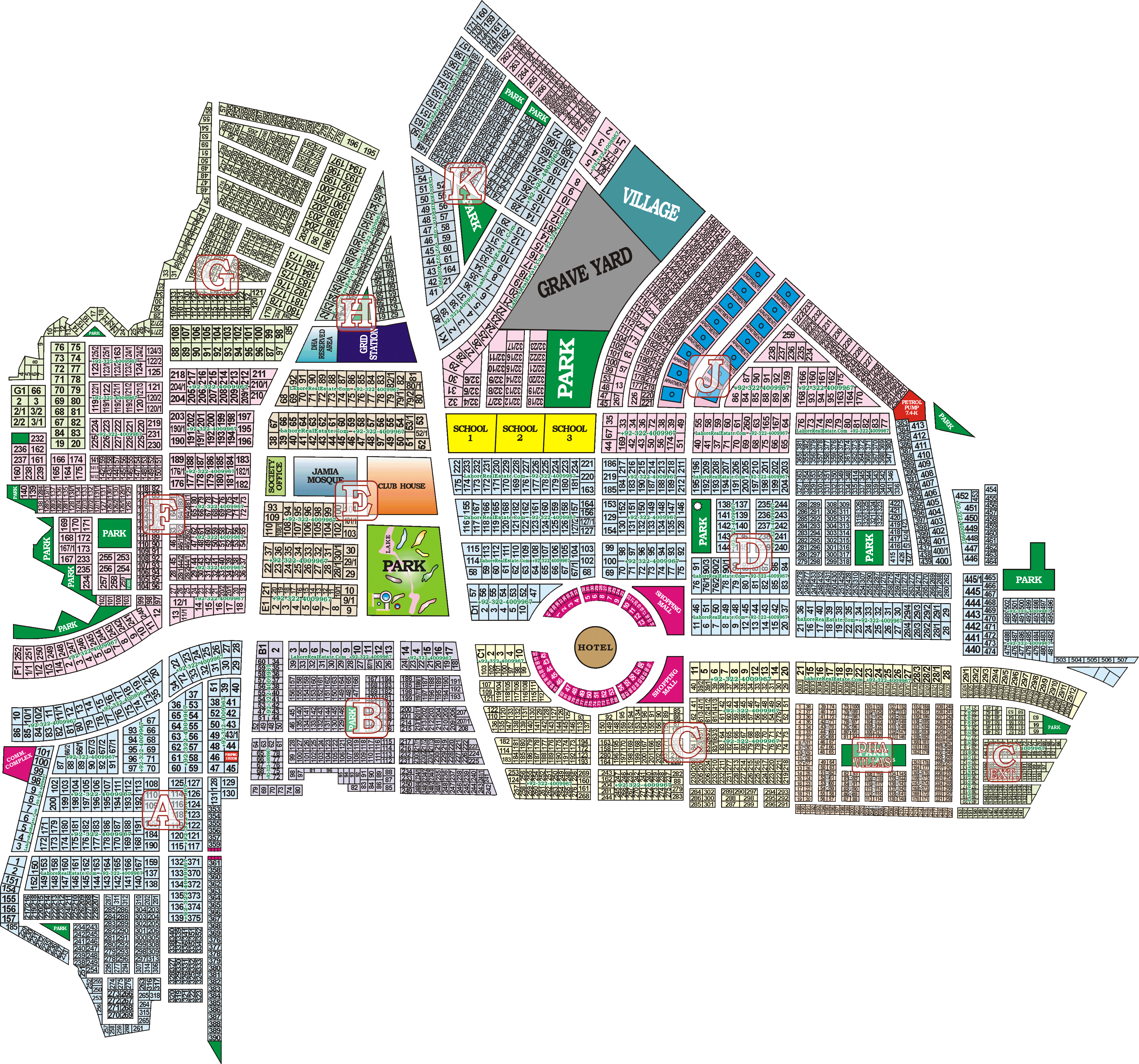 dha lahore subdivisions