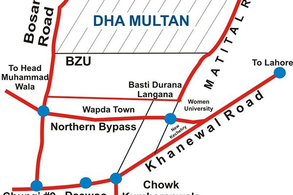 DHA-Multan-Location-Map